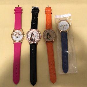 Designerable Women's Cat watches ! Brand New!